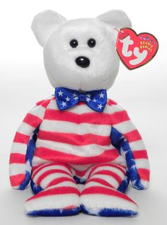 Liberty (white head) - Bear - Ty Beanie Babies