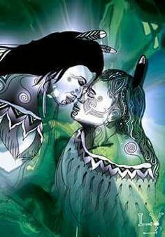 Maori design, black and white, green leafy background - nz focused? Maori Legends, Maori People, Polynesian Art, New Zealand Art, Maori Tattoo Designs, Nz Art, Maori Art, Kiwiana, Dope Art