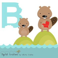 Beaver Digital Clipart by CollectiveCreation on Etsy