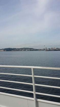 King county water taxi from pier 50 across Elliott Bay to Seacrest Park.
