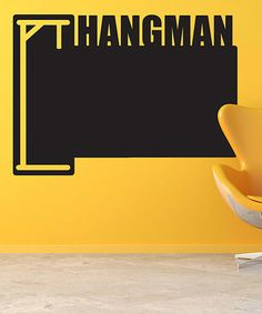 Take a look at this Black Hangman Chalkboard Wall Decal by Sissy Little on #zulily today!