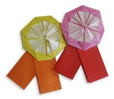 Paper medal origami #tutorial #crafts