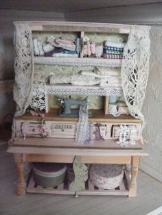 12th scale shabby chic haberdashery counter by shabbychicminis, $160.00
