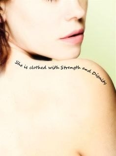 She is clothed with strength and dignity....