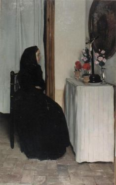 The Athenaeum - The Widow (Ramon Casas y Carbó - )