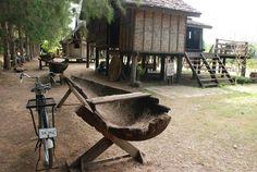 จิม ทอมป์สัน ฟาร์ม Thai House, Wooden House, Little Houses, Firewood, Bamboo, Cabin, House Styles, Interior, Ideas