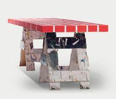 MEMPHIS RED BRICK TABLE No4