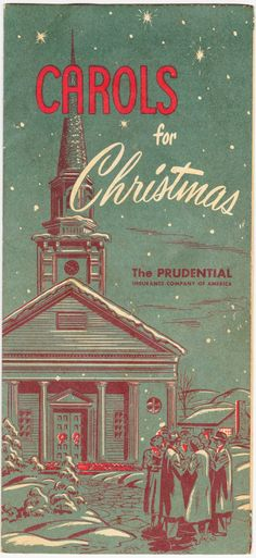 "Papergreat: ""Carols for Christmas,"" a vintage pamphlet from The Prudential"