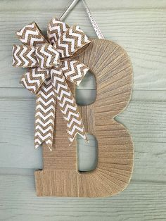 Front Door Decor Burlap Letter Fall Decorations Real Estate