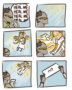 """ladygrit: """"i hate it when people spam the heal button. especially halfway-across-the-map genjis """""""