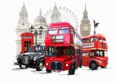 Feuille A3, London Landmarks, London Transport, Double Decker Bus, Artwork Display, Creative Industries, Paint By Number, Western Art, Artist Canvas