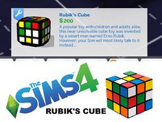 The Sims 4 | Rubik's Cube Toy | buy mode new objects functional kids room