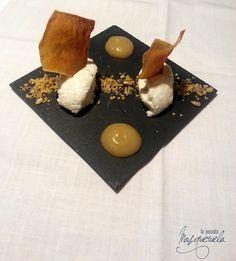 Cremoso de queso trufado, boniato y frutos secos. Menú degustación de la trufa