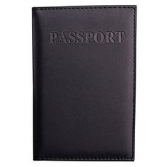 Yodosun PU Leather Travel Passport Case Cover Holder Passport Protector for Women Mens 98142cm Black * Want additional info? Click on the image. Note:It is Affiliate Link to Amazon.