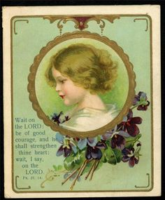 Lot of 4 Victorian Scripture Beatitudes 23rd Psalm Books of Bible Religious Card