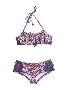 Mini Print Boy Short Bikini Set
