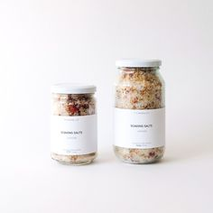 SOAKING SALTS Packaging Design, Branding Design, Candle Jars, Candles, Aromatherapy Recipes, Himalayan Pink Salt, Coffee Scrub, Bath Soak, Lavender Scent