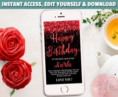 Welcome to my Etsy Shop Electronic Cards, Electronic Invitations, Glitter Text, Red Glitter, Birthday Photo Booths, Birthday Photos, Sms Message, Text Messages, Neon Birthday
