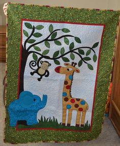 9pcs Appliqued 3D Jungle Animals Boy Baby Cot Crib Bedding set 6 ... : jungle quilt pattern - Adamdwight.com