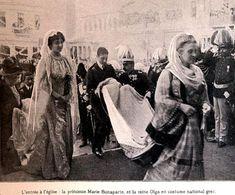 Queen Olga of Greece and Princess Marie Bonaparte. Marie Bonaparte, Greek Traditional Dress, Greek Royalty, Greek Royal Family, Christian Ix, Royal Photography, Grand Duchess Olga, Royal King, St Helena