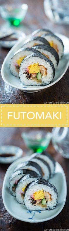 Futomaki 太巻き (Ehomaki 恵方巻き)   Easy Japanese Recipes at JustOneCookbook.com