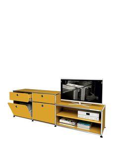 usm haller garderobenschrank garderobe goldgelb ral 1004 living rooms and more. Black Bedroom Furniture Sets. Home Design Ideas
