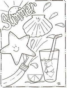 Michelle Kemper Brownlow Summer Coloring Pages