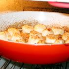 """Broiled Scallops By: Gail New  """"My husband thinks these scallops are better than any we have found in any restaurant."""" 1 1/2 pounds bay scallops 1 tablespoon garlic salt 2 tablespoons butter, melted 2 tablespoons lemon juice Directions      Turn broiler on.     Rinse scallop and place in a shallow baking pan. Sprinkle with garlic salt, melted butter or margarine and lemon juice.     Broil 6 to 8 minutes or until scallops start to turn golden. Remove from oven and serve with extra…"""