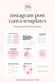 Instagram Feed, Canva Instagram, Instagram Post Template, Free Instagram, Instagram Tips, Instagram Posts, Media Kit Template, Social Media Template, Social Media Design