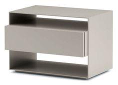 Bedside table / rectangular / contemporary / MDF SANYA Flou