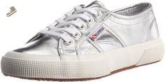 Superga Womens 2750 Cotmetu Silver Synthetic Trainers 36 EU - Superga sneakers for women (*Amazon Partner-Link)
