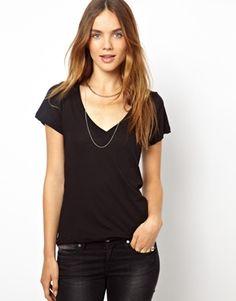 LnA Deep V Neck T-Shirt