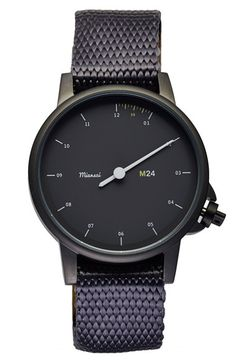 Miansai 'M24' Round Nylon Strap Watch, 39mm available at #Nordstrom