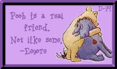 Pooh is a real friend
