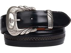 Lucchese Men's Belt | Goat in Black | Hobby Stitching #LuccheseBelts www.lucchese.com