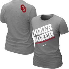 afaf8dbdc93 $24.95 Nike Oklahoma Sooners Women's Boomer Sooner Local T-Shirt - Ash  Crimson Tide Football