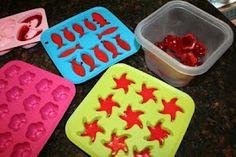 Homemade gummy candies!  Got my ikea ice trays, I'm ready to go!