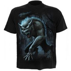 T-shirt homme avec loup garou Gothic Metal, Gothic Outfits, Werewolf, T Shirt, Spiral, Gothic Clothing, Mens Tops, Clothes, Weird
