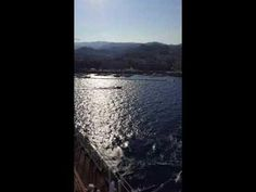 The Messina, Italy marina was flooded when this cruise ship came too close!