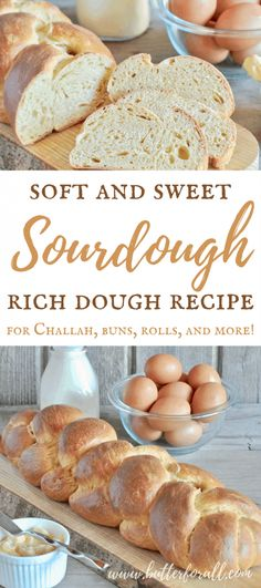 This is the ultimate multipurpose Soft and Sweet Sourdough Rich Dough for making Brioche, Challah, Buns, Rolls, Pastries and more! Dough Starter Recipe, Sourdough Starter Discard Recipe, Sourdough Recipes, Bread Recipes, Real Food Recipes, Sourdough Brioche Recipe, Starter Recipes, Skillet Recipes, Sour Dough Starter