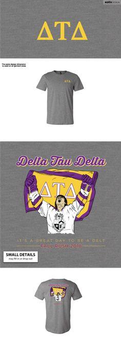 Delta Upsilon, Delta Tau Delta, Fraternity Rush Shirts, Quinnipiac University, Graphic Cow, University Tees, Shirt Ideas, Shirt Designs, College