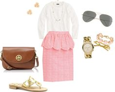 """""""Lilly Skirt"""" by southern-prep ❤ liked on Polyvore"""