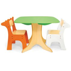 Tree Table with Giraffe and Zebra Chairs