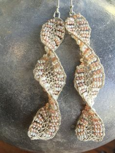 Rebecca Yeomans knitted earrings