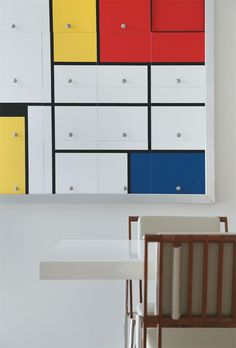Mondrian Cabinets            ♪ ♪    ... #inspiration_diy GB