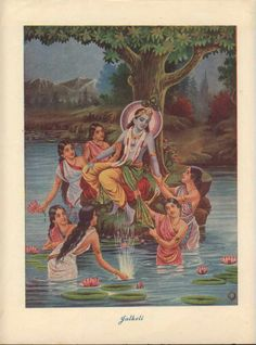 Krishna Sporting With The Gopis   c. 1920