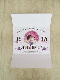 Convite de casamento rustico desenho