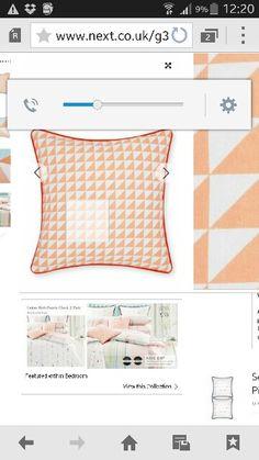 Coral next cushion