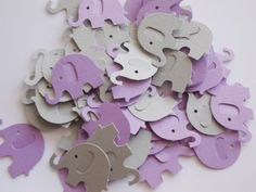 Gray & Purple Lavender Elephant Confetti Die by LilpawsPaperArt, $2.95