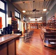 1920s drugstore pharmacy at the Fort Smith Museum of History. Order a handmixed old-fashioned soda, sundae, shake, malt, or float then enjoy it in this cool recreated 1920s pharmacy! Supports the museum AND tastes amazing.